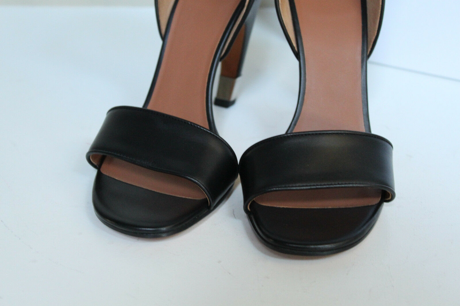 New sz sz sz 9   39 Givenchy Black Leather Curve Heel Ankle Sandal shoes 14f252