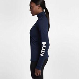 fa4d66b5 $65 NEW Nike Pro Warm Women's Long Sleeve Top Jacket Blue White ...