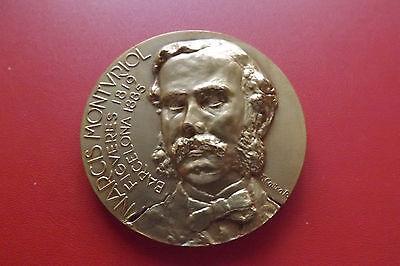 *spanische Bronzemedaille Ca.65,7g.-ca.52mm* Narcis Montvriol. (schub 22)