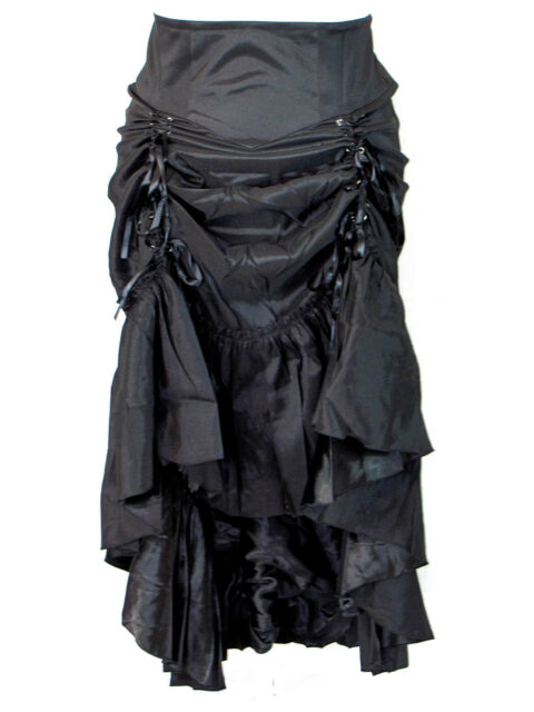 Plus Size Black Gothic Steampunk Burlesque 3 Way Lace Up Skirt 1X 2X 3X 4X