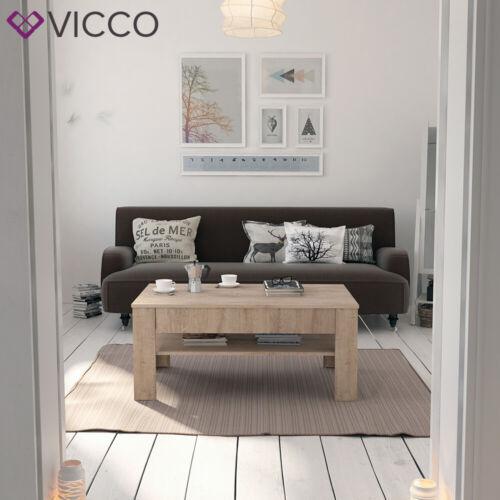 Table basse avec tiroir 110 x 65 cm VICCO Table d'appoint table en bois Sonom