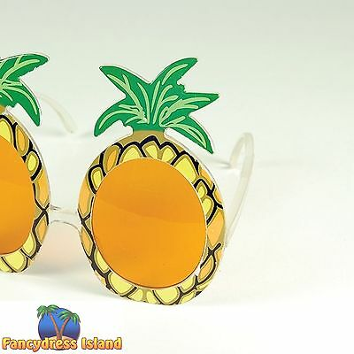 BEACH PARTY HAWAIIAN PINEAPPLE GLASSES - mens womens fancy dress accessory