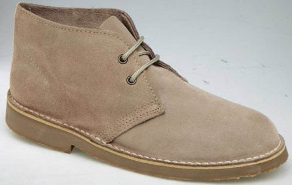 Roamers Mens M467 Sand Suede New Mens Desert Boots shoes