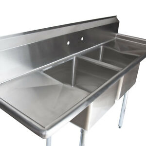Merveilleux Image Is Loading 72 034 Stainless Steel 2 Compartment Commercial Restaurant