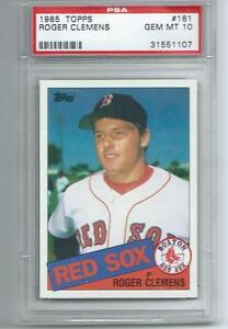 Details About Roger Clemens Red Sox 1985 Topps 181 Rookie Card Rc Psa 10 Gem Mint