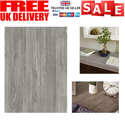 1mX90cm WOODGRAIN SELF ADHESIVE VINYL SHEFFIELD GREY OAK STICKYBACK PLASTIC WRAP