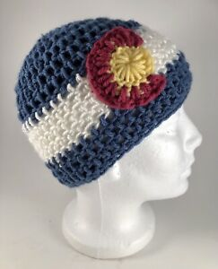 Colorado Crochet Beanie  Large to Medium  Size, Hand Made, FREE SHIPPING