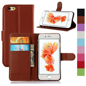 Flip-Leather-Wallet-Card-Pocket-Case-Cover-For-iPhone-4s-5s-SE-5C-6-6s-7-Plus