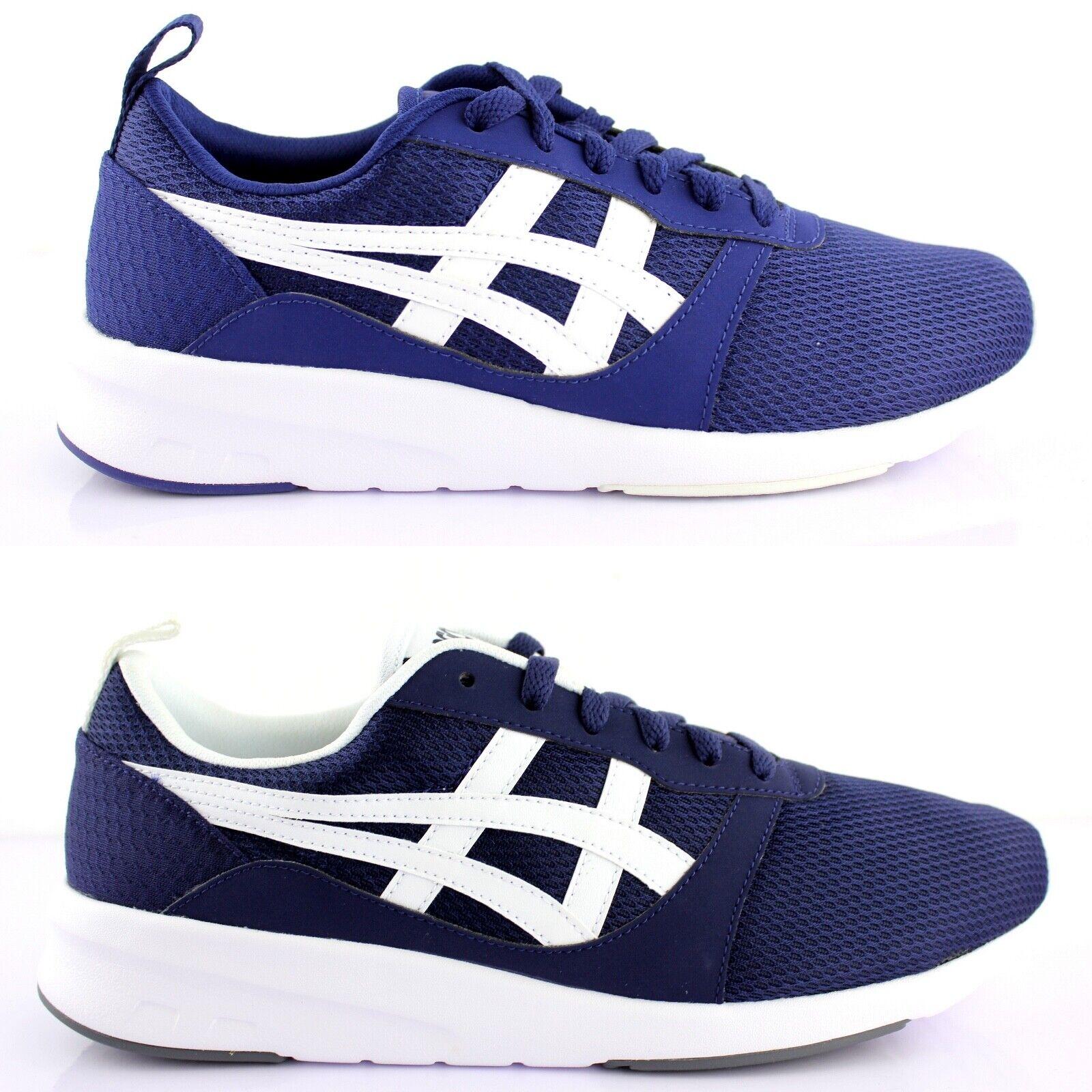 Asics Lyte jogger calcetines cortos schnürzapatos zapato bajo zapatos azul h7g1n