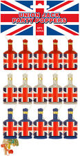 PACK OF 225 UNION JACK PARTY POPPERS NEW YEAR GREAT VALUE
