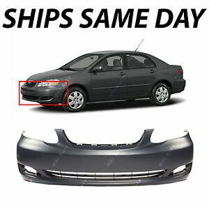NEW Primered Front Bumper Cover For 2005 2008 Toyota Corolla CE LE TO1000297