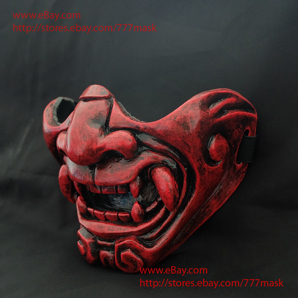 Airsoft Mask Half Face Tactical Paintball Devil Demon Oni Costume Cosplay MA228