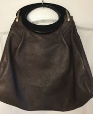 Authentic Marni Brown Leather Cross Body/Shoulder Tote Handbag Bag Size large