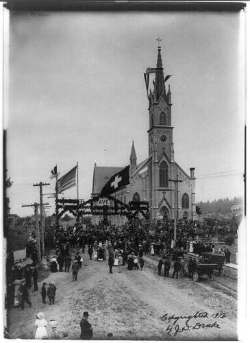Mary/'s Church,Mt Dedication of St Angel,Marion County,OR,Oregon,c1912