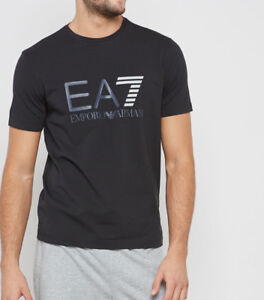 f6f1a7006a Dettagli su T-shirt Uomo Armani EA7 3ZPT33 PJ20Z Maglia Cotone Elastica  Nera Bianca Nuova