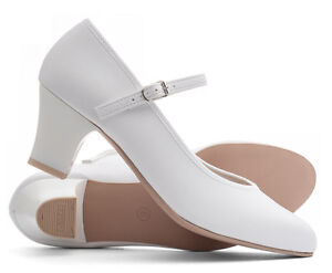 Ladies White Character Stage Showtime Dance Shoes All Sizes By Katz Dancewear 2""