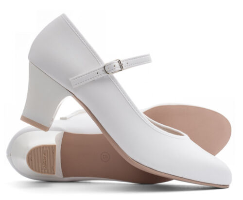 """Ladies White Character Stage Showtime Dance Shoes All Sizes By Katz Dancewear 2/"""""""