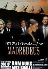 MADREDEUS - 2002 - Konzertplakat - Movimento - Tourposter - Hamburg