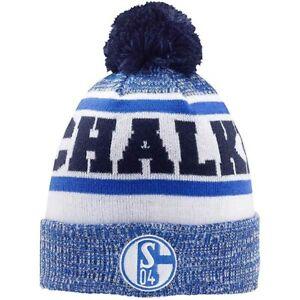 FC-Schalke-04-Muetze-Bommel-Schalke-S04-Strickmuetze-grau-schwarz-blau-Fanartikel