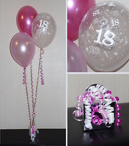 Image Is Loading 18th Birthday Balloons DIY Party Decoration Kit Clusters