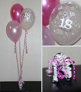 18th Birthday Balloons DIY Party Decoration Kit Clusters For 5