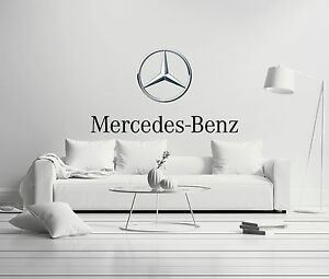 Mercedes benz cars wall decal decor for car home x large for Mercedes benz wall posters