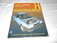 1982-1994 NISSAN SENTRA FWD ALL GAS ENG. AUTOMOTIVE REPAIR MANUAL HAYNES # 72050