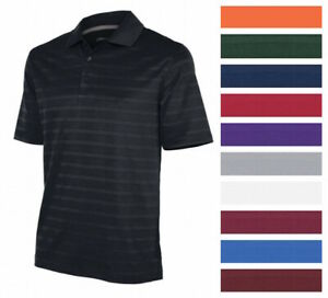 Champion-Men-039-s-Textured-Stripe-Polo-Athletic-Casual-Loose-Fit-Golf-T-Shirt