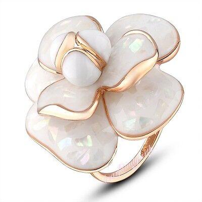 Vogue Blooming Resin Flower Cocktail Ring Wedding Bridal Ladys Women's Gift R681