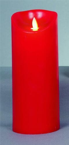 Premier Red Battery Operated DEL Dancing Flame Candle with Timer 23 cm lb131010r