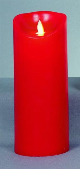 Premier Red Battery Operated LED Dancing Flame Candle With Timer 23cm LB131010R
