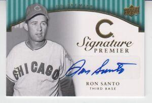 2008-Upper-Deck-Premier-Autograph-Gold-Ron-Santo-4-5-Chicago-Cubs-HOF-RARE-SP