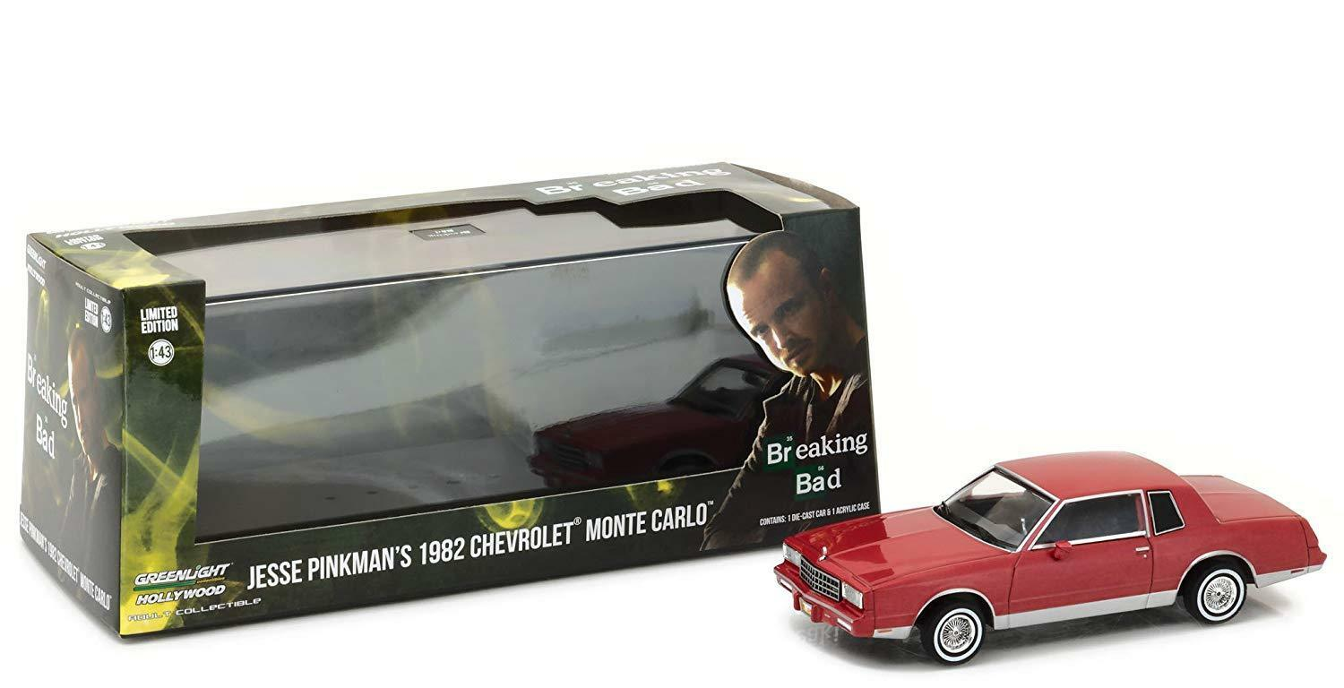 Greenlight 1 43 Scale Jesse Pinkman's 1982 Chevy Monte Carlo Diecast Model Car