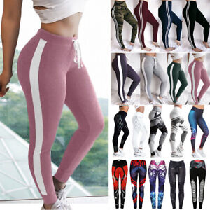 Women High Waist Sports Yoga Pants Print Fitness Gym Leggings Stretch Trousers P by Fittoo
