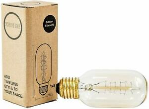 Castello-Style-Vintage-Edison-Light-Bulb-60w-Spiral-Radio-Valve-Shape-Gold-E27