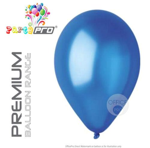 "METALLIC BIRTHDAY PARTY BALLOONS 12/"" PREMIUM PEARL BLUE ROYAL PARTYPRO®"