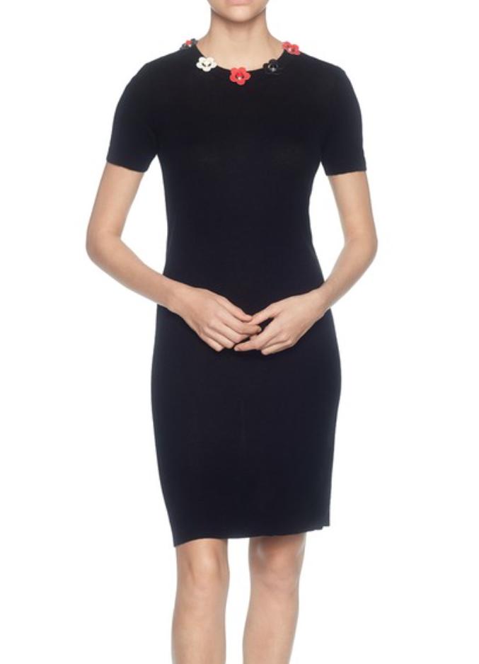 Magaschoni para mujeres Vestido Tubo Negro con Cuentas Manga Casquillo  Talle M 2568  marcas en línea venta barata