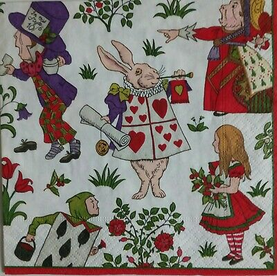 4 papel de Almuerzo Servilletas Para Decoupage Craft Vintage Servilleta Flor Baset