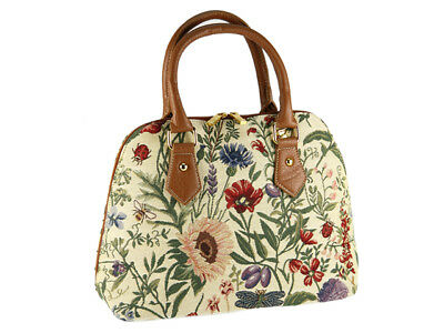 Signare Ladies Woven Tapestry Across Body Shoulder Bag In Morning Garden Design
