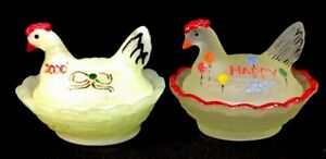 Boyd-Art-Glass-HP-Vaseline-Satin-And-Lemon-Splash-Carnival-Chick-Salts