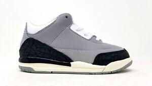 4499f697f9a6bb 832033-006 Nike Toddler Jordan 3 Retro TD Lt Smoke Grey Chlorophyll ...