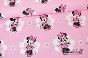 Baumwolle-Webware-Minnie-Mouse-rosa-A360