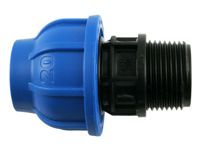 PE Rohr Verschraubung mit Außengewinde Trinkwasser DVGW Klemmverbinder Fitting