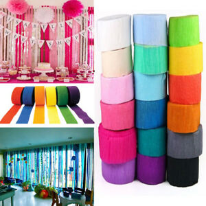 Image Is Loading 5 1000cm Crepe Paper Streamer Roll Wedding Birthday