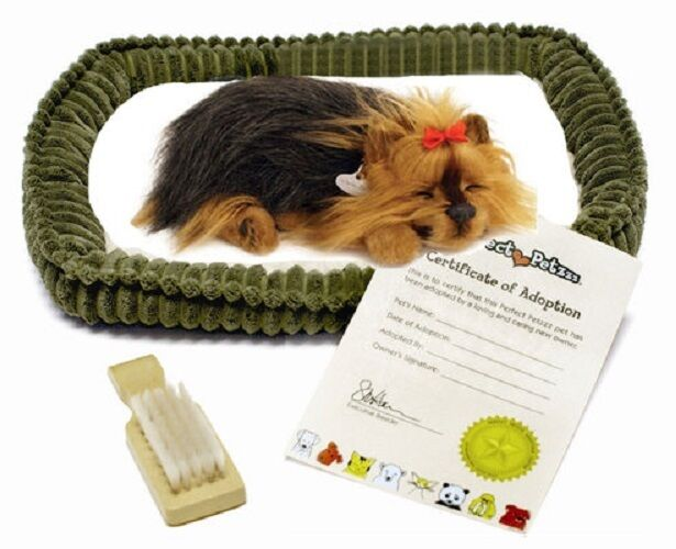 Petzzz Yorkie Breathing Puppy Dog Plush Set Wcarrier Bed Brush Ebay