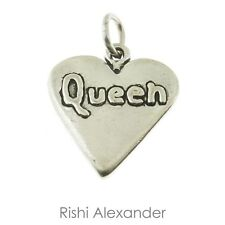 925 Sterling Silver Queen of Hearts Card Poker Charm American Made