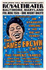 1960's Raw Soul: James Brown at  Baltimore Concert Poster 1963