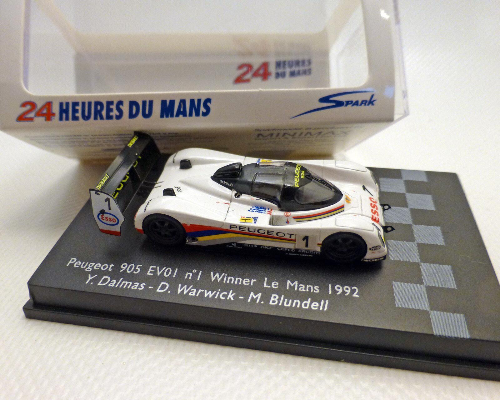Peugeot 905 le Mans 1992, Spark, 1 87