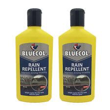 2 x Bluecol Rain Water Repellent Glass Treatment Improves Windscreen Visibility