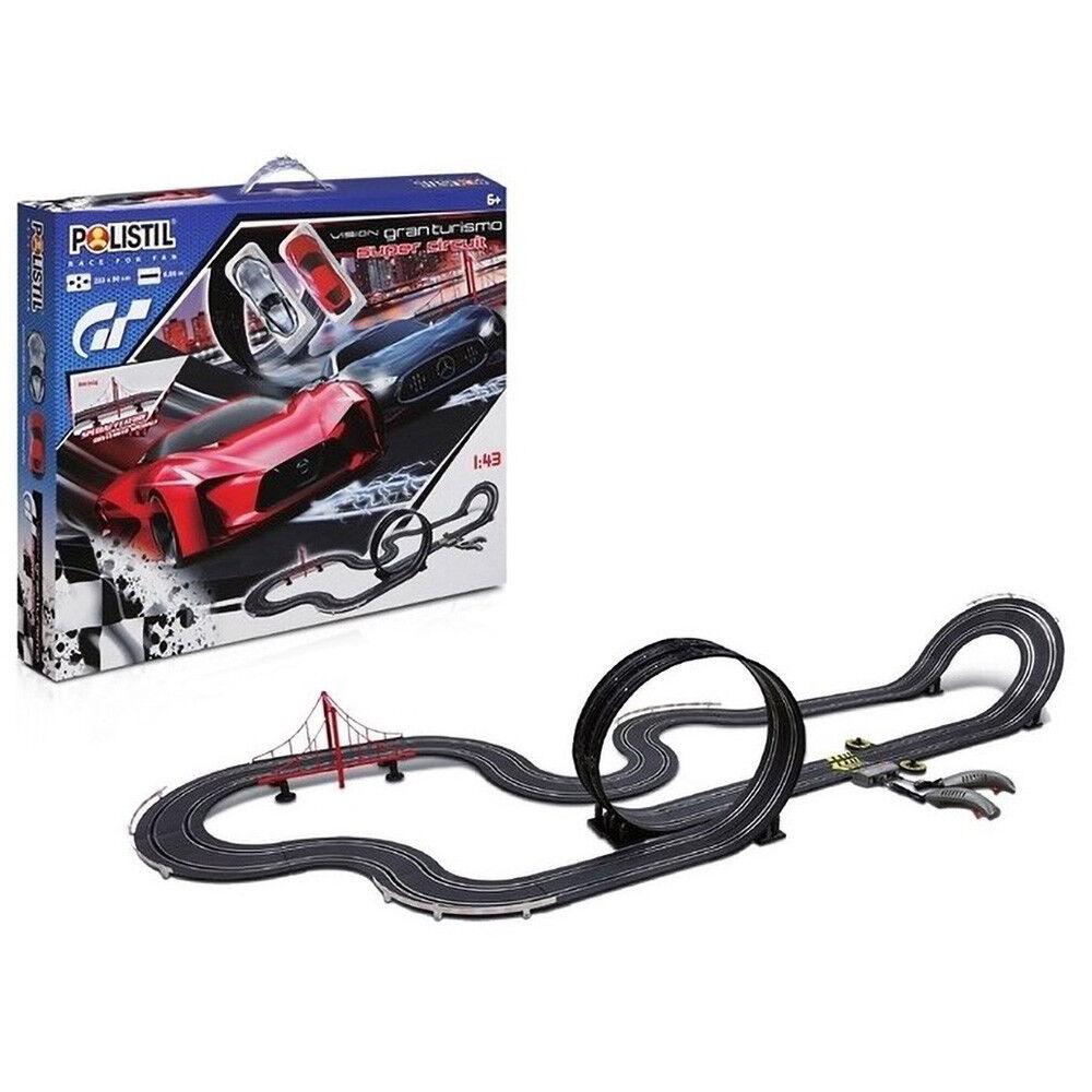 Offriamo vari marchi famosi Pista elettrica Polistil giocattolo per bambini gran turismo da corsa corsa corsa 6,66m 1 43  Garanzia del prezzo al 100%